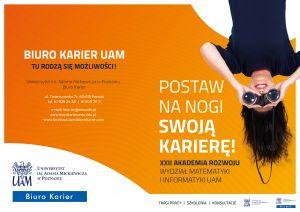 Biuro Karier UAM zaprasza do udziału w XXII Akademii Rozwoju!