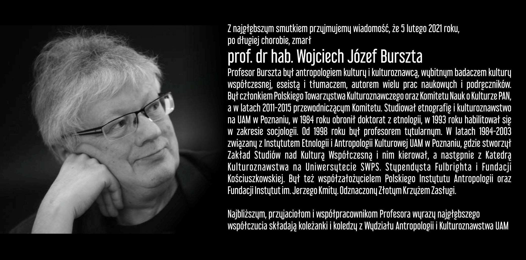 Odszedł Wojciech Józef Burszta